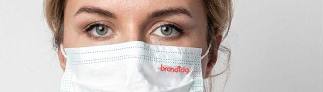 logo printed facemask